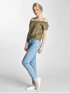 Lee Skinny Jeans Croppend Tapered grau