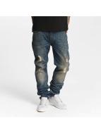 Lee Slim Fit Jeans Rider Destroyed blau