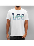 Lee T-Shirt Seasonal Logo blanc