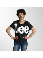 Lee T-Shirt Logo schwarz