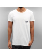 Lee T-Shirty Pocket bialy