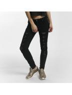 Leg Kings Skinny Jeans Mesh čern