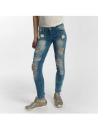 Leg Kings Skinny Jeans Flower modrý
