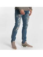 Leg Kings Slim Fit Jeans Destroyed modrý