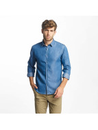 Lindbergh overhemd Denim blauw