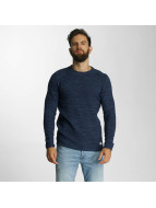 Lindbergh Pullover O-Neck Spcial Pattern Knit blue