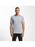 Lindbergh T-Shirt Striped Mouline blue