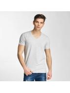 Lindbergh T-Shirt Stretch V-Neck grau