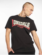 Lonsdale London Футболка Two Tone черный