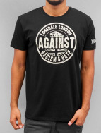 Lonsdale London Camiseta Against Racism negro
