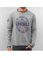 Lonsdale London Pullover Borden grau