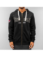 Lonsdale London Sweat à capuche zippé Callington noir