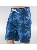 LRG Badeshorts Stay Palm blau