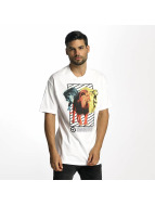 LRG t-shirt Three's A Lion wit
