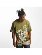 LRG T-Shirty Scenic Knit oliwkowy
