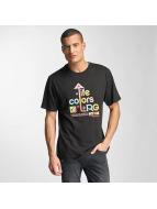 LRG Tričká Life Colors èierna