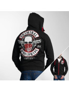 Mafia & Crime Hoodies con zip Criminal Mask nero