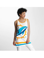 Majestic Athletic Miami Dolphins Large Graphic Racer Back Tank Top White