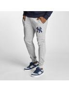 Majestic Athletic NY Yankees Slim Loopback Jogger Pants Grey Melange