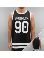 Majestic Athletic Tank Tops Longline Poly Number musta