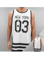 Majestic Athletic Tank Tops Longline Poly Number valkoinen