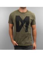 Maskulin T-Shirt Logo kaki