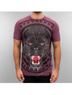 Maskulin T-shirt Panther rosso