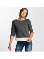 Mavi Jeans Boat Neck Top Dark Grey Melange