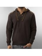 MCL Пуловер Patches коричневый