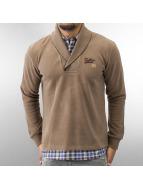 MCL Пуловер 2 In 1 Look коричневый