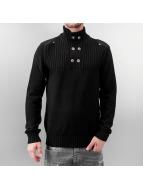 MCL Пуловер Button черный