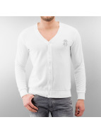 MCL Cardigan Two Horses blanc