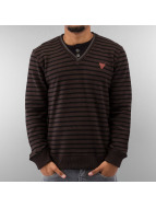 MCL Pullover Stripe Legacy braun
