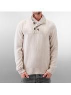 MCL Pullover Button Stone grau