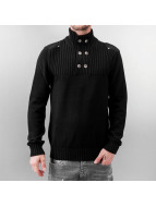 MCL Pullover Button schwarz
