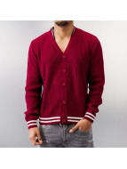 MCL Strickjacke Basic Small Buttons rot