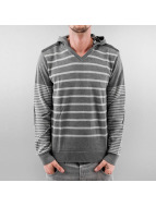 MCL Sweat à capuche Big Stripe gris