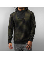 MCL Sweat à capuche Stripes olive