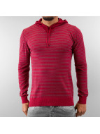 MCL Sweat à capuche Basic Stripe rouge