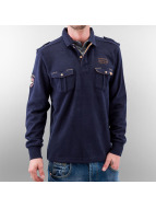 MCL trui Double Pocket blauw