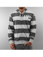 MCL Zip Hoodie Big Logo Stripe grau