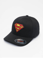 Merchcode Flexfitted Cap Supermann schwarz