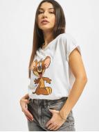 Merchcode T-Shirt Tom & Jerry Mouse weiß