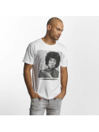 Merchcode T-Shirt Jimi Hendrix Purple Haze weiß