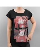 Merchcode t-shirt Ladies Pink The Truth About Love zwart