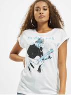Merchcode T-shirts Ladies Ed Sheeran Guitar hvid