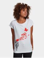 Merchcode T-shirts Ladies Banksy hvid