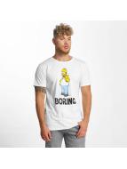 Merchcode T-shirts Simpsons Boring hvid
