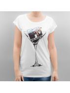 Merchcode T-Shirty Ladies MTV Cocktail bialy