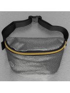 Mi-Pac Bag Pebbled Bum silver colored
